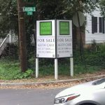Maine Real Estate Signs post panel outdoor real estate 150x150